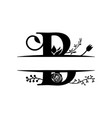decorative monogram split letter graphic design vector image