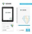 diamond business logo tab app diary pvc employee vector image vector image