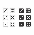 dice black and white vector image