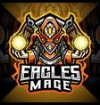 eagles mage esport mascot logo vector image vector image