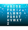 English alphabet in the underwater style vector image