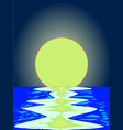 evening ocean reflections vector image