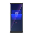 fingerprint scan on smartphone screen concept of vector image