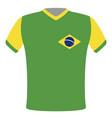 flag t-shirt of brazil vector image