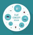 flat icons tone symbol harmonica audio box and vector image vector image