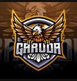 garuda esport mascot logo design vector image vector image