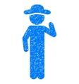 Gentleman Opinion Grainy Texture Icon vector image vector image