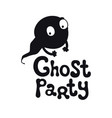 ghost party halloween theme handdrawn lettering vector image vector image