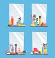 hairdressing barbershop icons salon vector image vector image