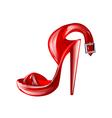 high heel vector image vector image