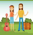 hippie people design vector image vector image