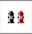 hydrant icon logo isolated on white background vector image