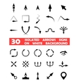 Isolated arrows signs on white background vector image