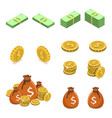 isometric flat concept money such as vector image