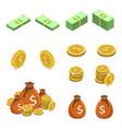 isometric flat concept money vector image