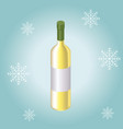 isometric red wine bottle isolated on winter vector image