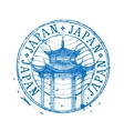 Japan logo design template temple drawn in vector image