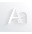 Letter A white paper symbol icon