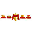 monarch coronation ceremony attributes set vector image
