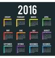 New year calendar schedule vector image vector image