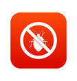 no bug sign icon digital red vector image vector image