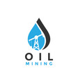 oil mining logo icon element design template vector image vector image
