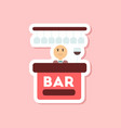 paper sticker on stylish background poker bar vector image vector image