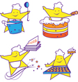 Party abstract cheerful chefs vector image