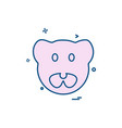 pig icon design vector image