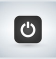 power icon on black app button with shadow vector image vector image