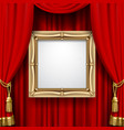 red curtain with a gold frame vector image vector image