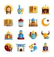 Religion Icon Set vector image vector image