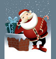 Santa Claus and Christmas chimney vector image vector image