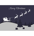 Santa Claus is flying in a sleigh with reindeer vector image vector image