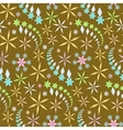 Seamless christmas pattern Snowflakes crystals vector image vector image