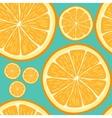 Seamless pattern with hand drawn orange slices
