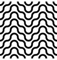 seamless striped wavy pattern simple vector image vector image