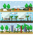 set of military posters banners in flat vector image vector image