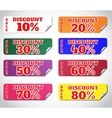 Set stickers vector image vector image