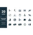 shopping center icons icon set include creative vector image vector image