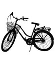 silhouette of bicycle on white background vector image vector image