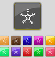 snow icon sign Set with eleven colored buttons for vector image vector image
