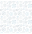 snowflakes seamless pattern winter background vector image vector image