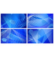 soccer backgrounds in blue colors vector image