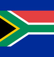 south africa national flag vector image vector image