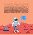 space rover and astronaut vector image