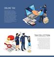 tax inspectors banners vector image