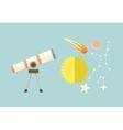 Telescope Celestial Bodies onstellation sun vector image vector image