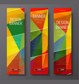 template of vertical web banners with abstract vector image vector image