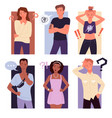 thinking people confuse set puzzled confused vector image